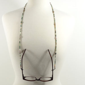 Green Gemstone Eyeglass Beaded Cord