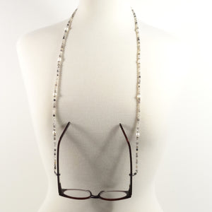 Black & White Pearl Eyeglass Beaded Cord
