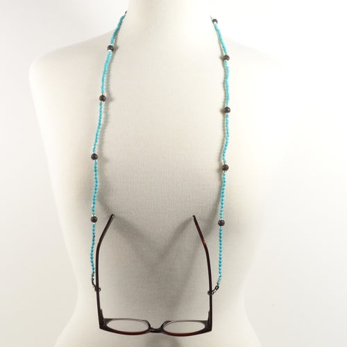 Turquoise Lava Eyeglass Beaded Cord