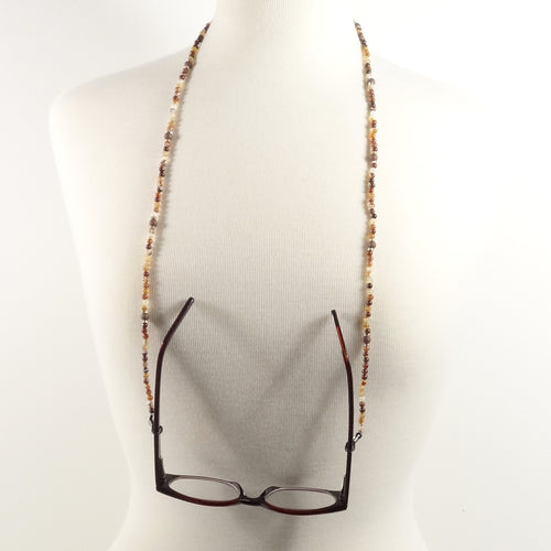 Brown Eyeglass Beaded Cord