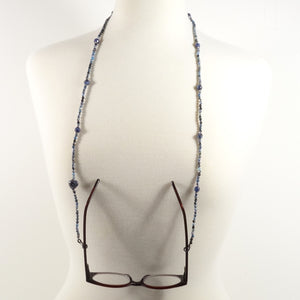 Denim Eyeglass Beaded Cord