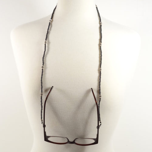 Black Matte Eyeglass Beaded Cord