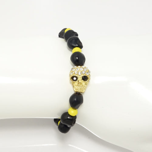 All Black Skull Men's Bracelet