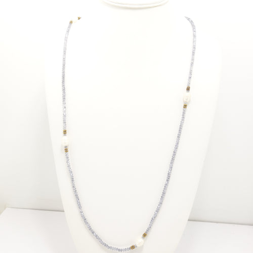 Blue/grey Pearl Necklace