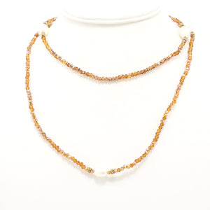 Bronze Pearl Necklace