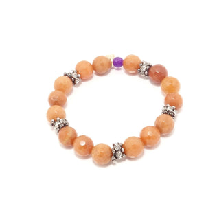 Orange/Rose-Gold Beaded Bracelet Bundle