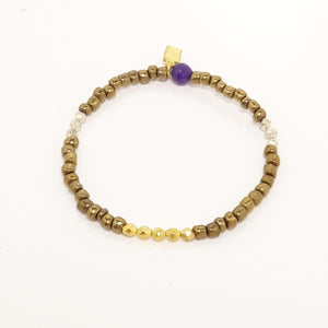 Silver and Gold Beaded Bracelet