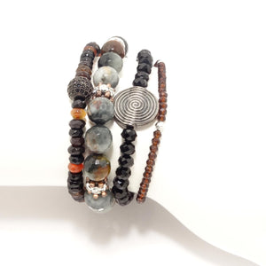 Bronze Beaded Bracelet Bundle