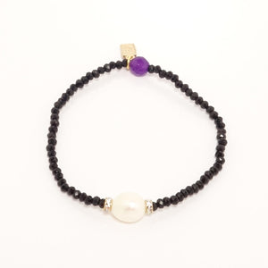 Black Pearl Beaded Bracelet