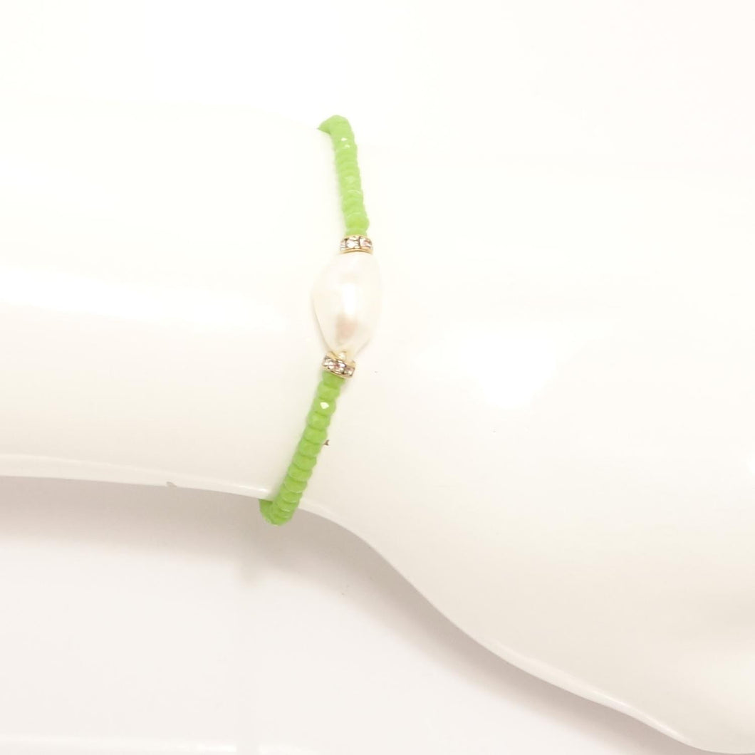 Light Green Pearl Beaded Bracelet