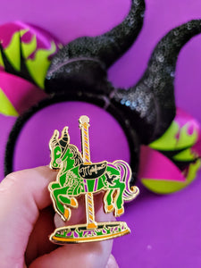 Maleficent carousel horse