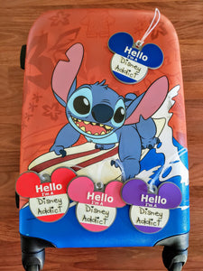 Hello I'm a Disney Addict luggage tags