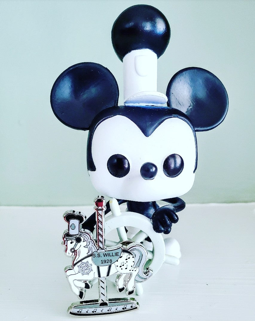 Steamboat Willie carousel horse