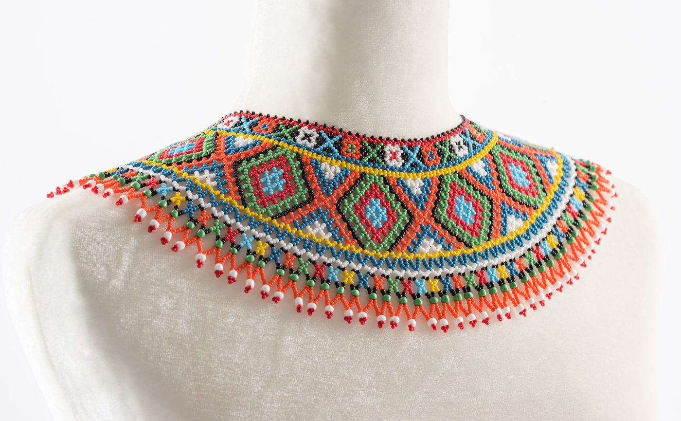 Beaded Lace Round Collar Necklace