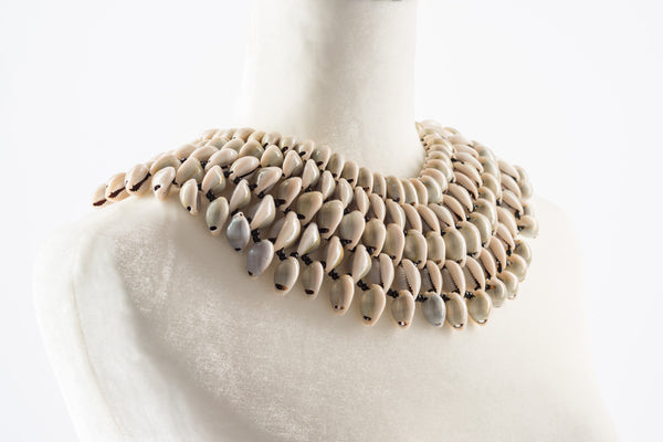 Cowrie Collar Statement Necklace