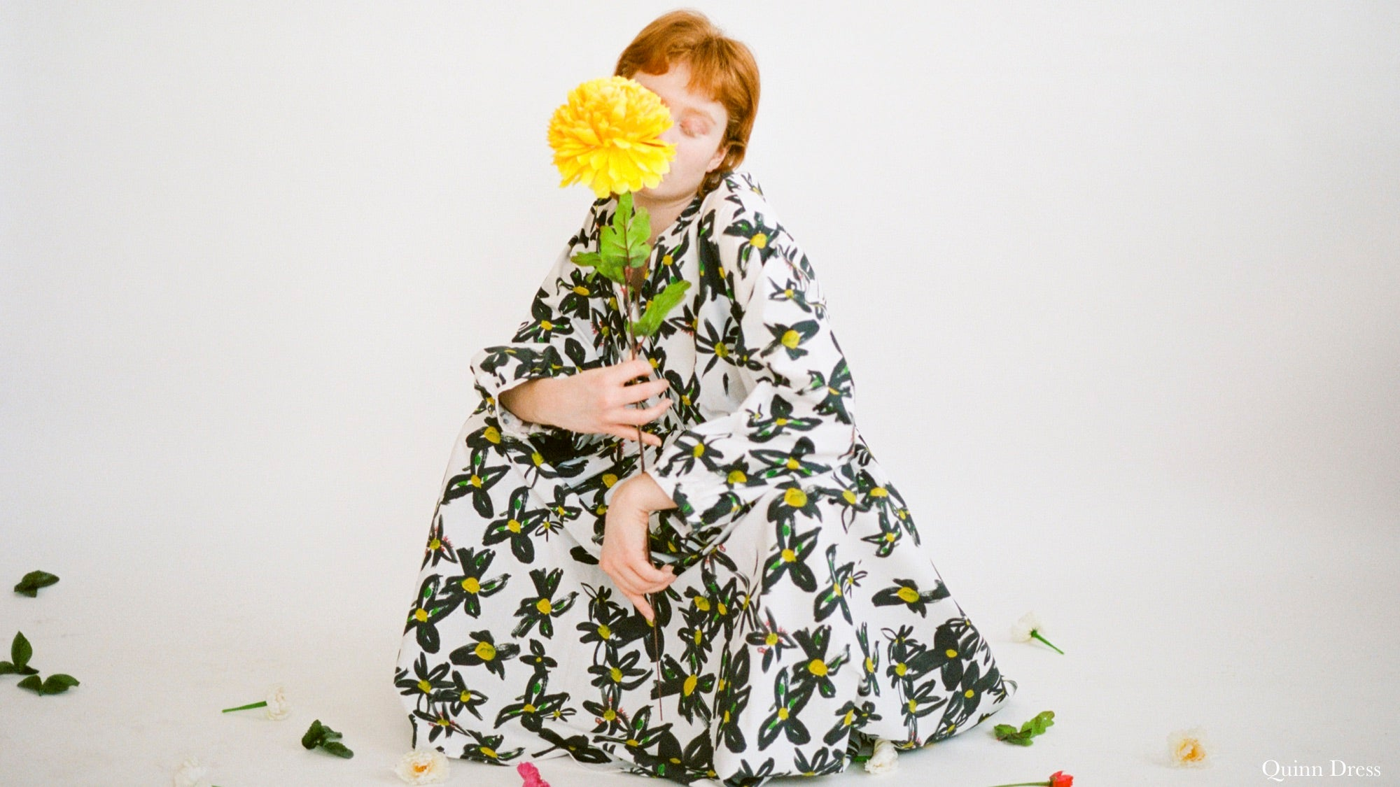 WRAY PF20 Lookbook featuring a hand painted daisy print on cotton