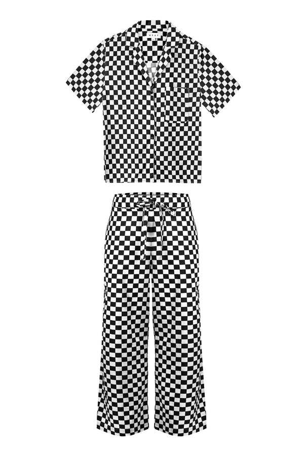 Long Lounge Set - Black Check WRAY