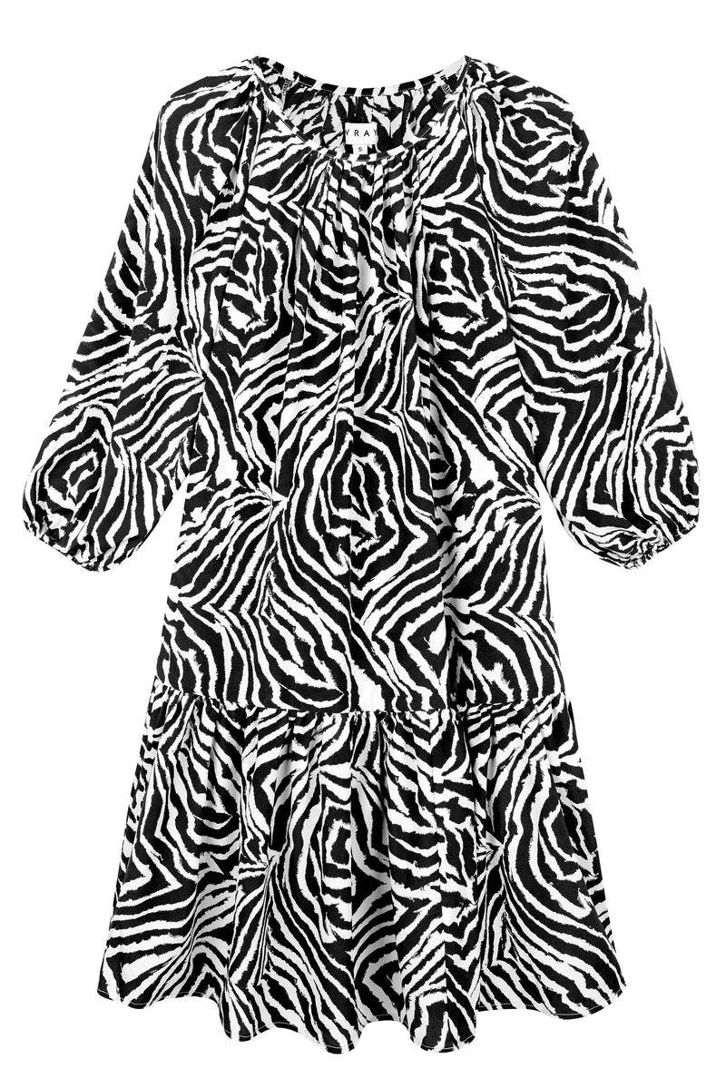 Daria Dress - Chocolate Zebra Swirl Dresses WRAY