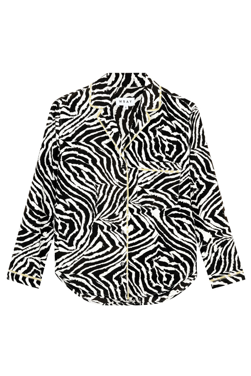Lena Top - Chocolate Zebra Swirl Tops WRAY
