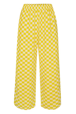 Luna Pant - Lemon Check Bottoms WRAY