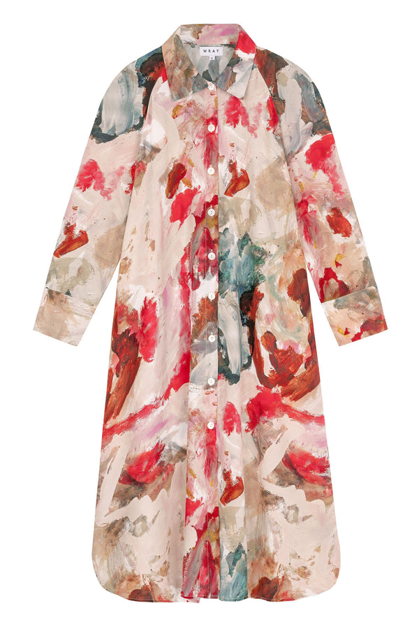 Shirt Dress - Painted Print Dresses WRAY