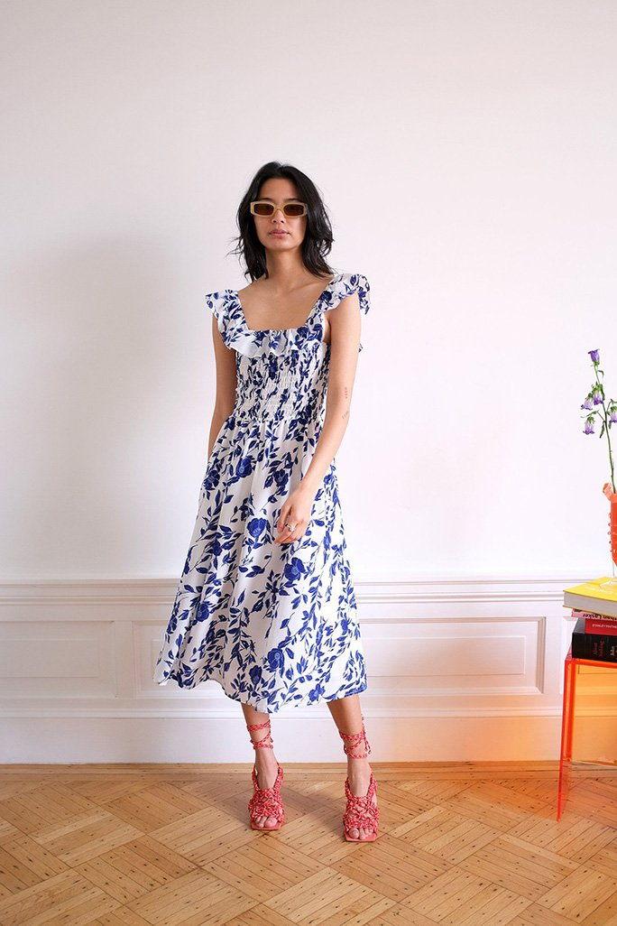 Claude Dress - Pottery Floral Dresses WRAY