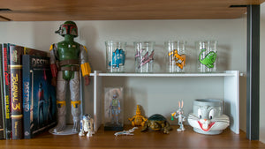 "18"" Stackable collectibles shelf"