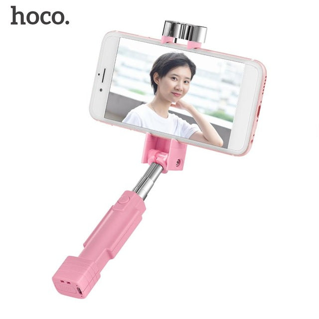 HOCO K4 Universal Mini Bluetooth Selfie Stick Wireless Handheld Monopod  Extendable Portable Selfiestick For iPhone For Android