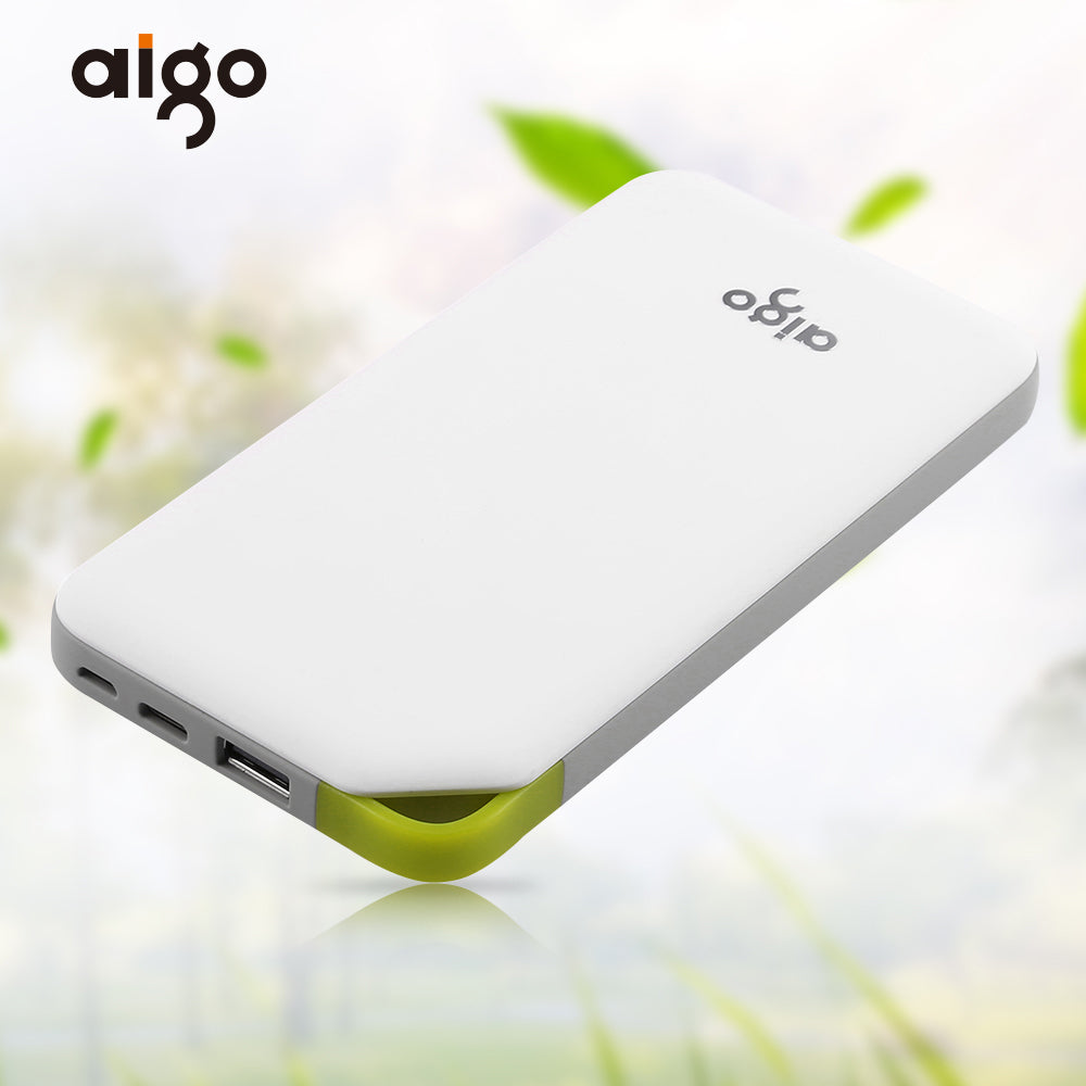 buy popular e918c 2e55f Aigo 10000mAh Powerbank 2 Inputs Ultra Slim Power Bank Portable Charger  External Battery Poverbank for Iphone 4 6 7 for Xiaomi