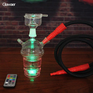 Portable Smoke Remote LED Hookah