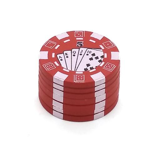 Red Portable Smoke Poker Chip Grinder