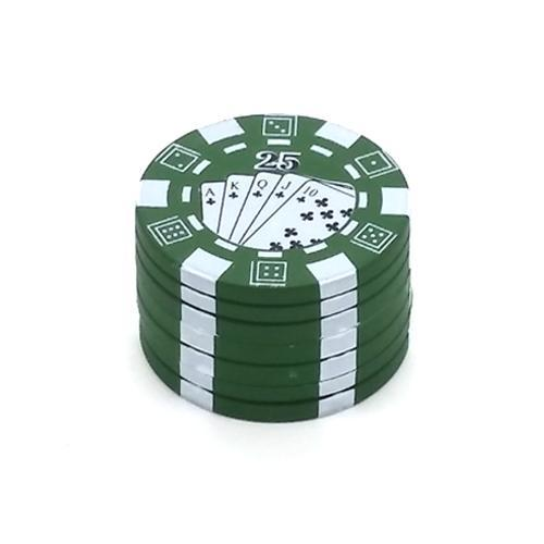 Green Portable Smoke Poker Chip Grinder