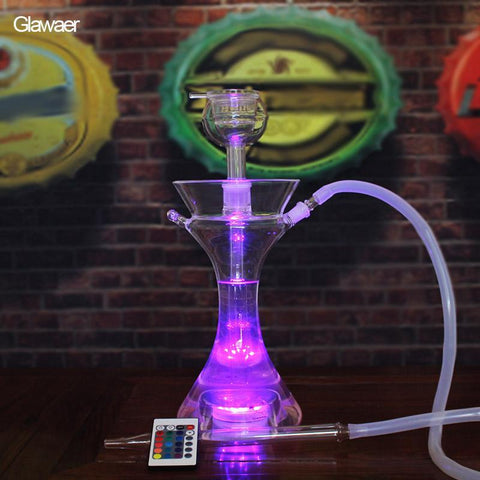 Portable Smoke Remote Controlled LED Hookah