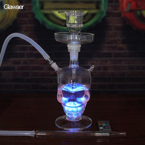 Portable Smoke LED Skull Hookah
