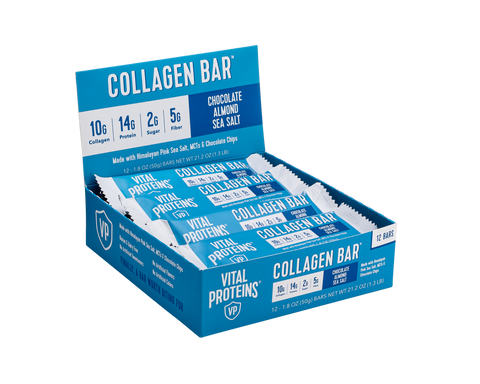 Collagen Bar Chocolate Almond Sea Salt 12 Pack