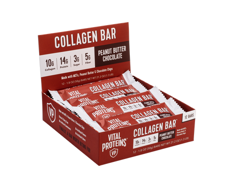 Collagen Bar Peanut Butter Chocolate 12 Pack