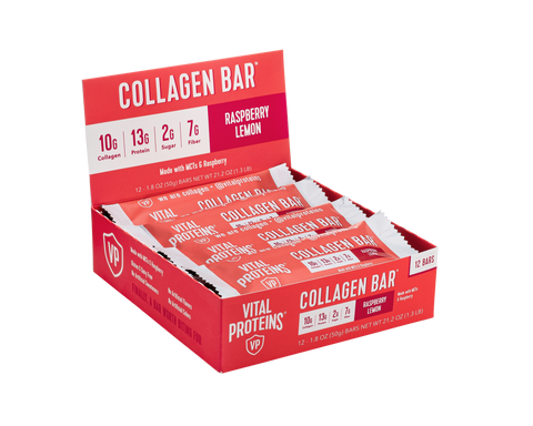 Collagen Bar Raspberry Lemon 12 Pack