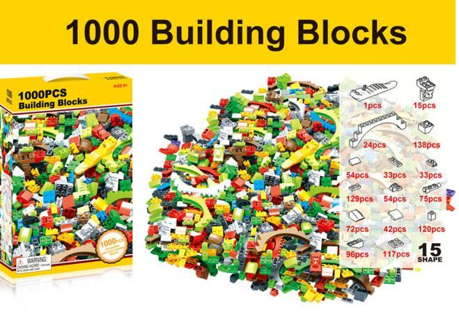 1000 Pieces City Building Blocks Toys