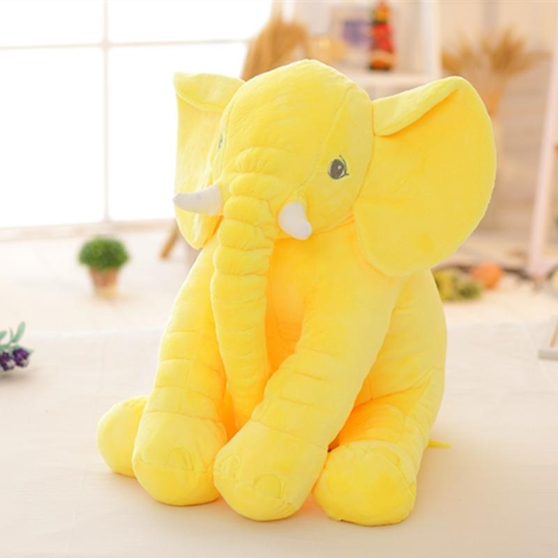 16 Inch New Fashion Stuffed Soft Elephant Animal Pillow Pink