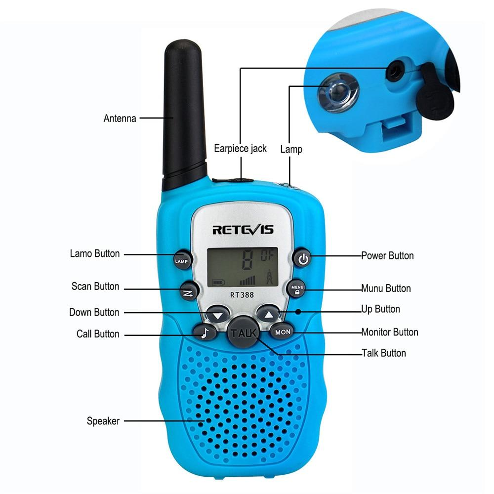 2PCS Kids Walkie Talkies With Flashlight