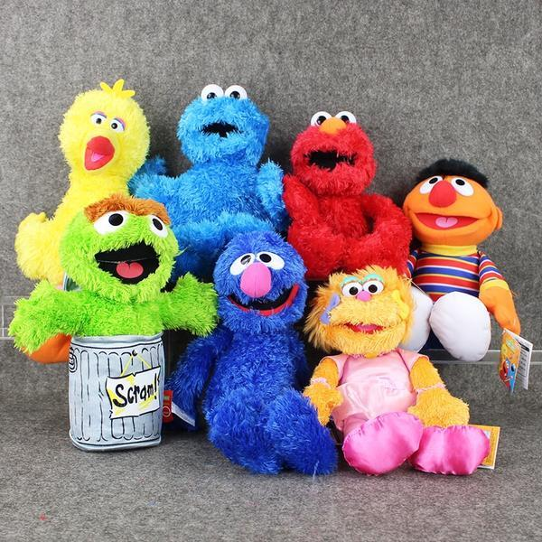 Anime Sesame Street Cartoon Stuffed Plush Toy Elmo