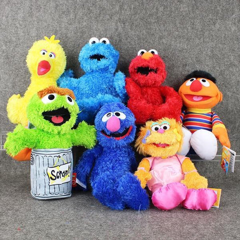 Anime Sesame Street Cartoon Stuffed Plush Toy Gang
