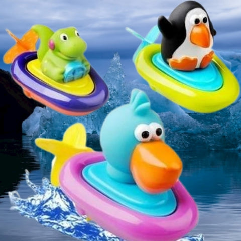 Baby Bath Toy Pull And Go Boat