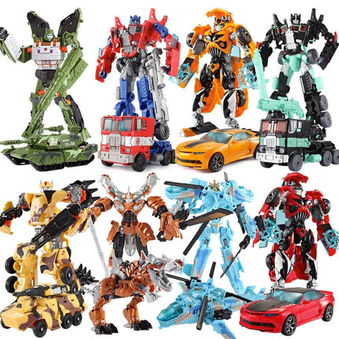 Big Classic Transformation Plastic Robot Cars Action Figures