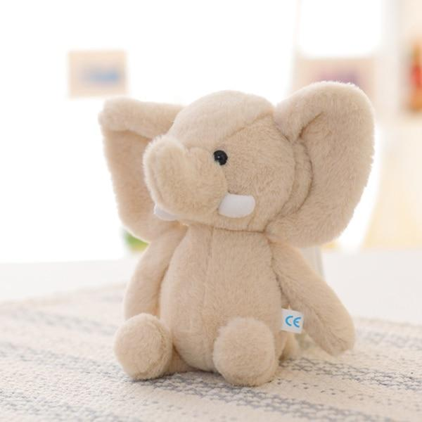 Cute Peek-A-Boo Plush Elephant Brown