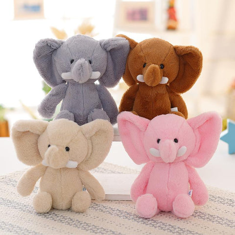 Cute Peek-A-Boo Plush Elephant