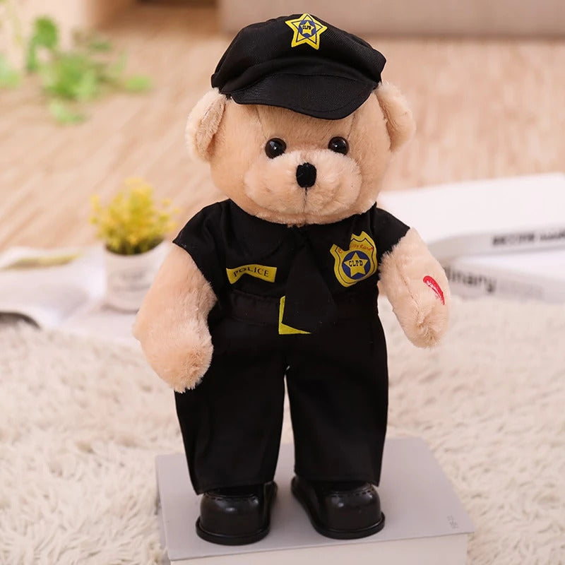 Dancing/Singing Cop Bear Plush Toy