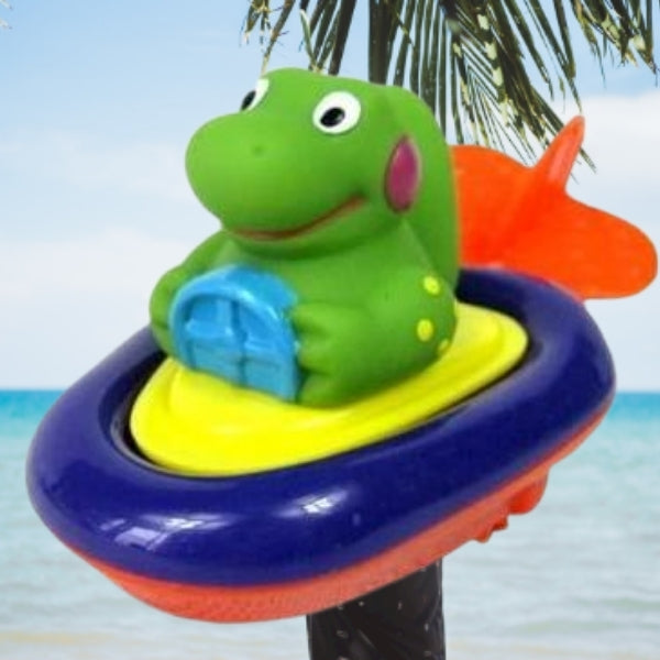 Baby Bath Toy Pull And Go Boat Dino