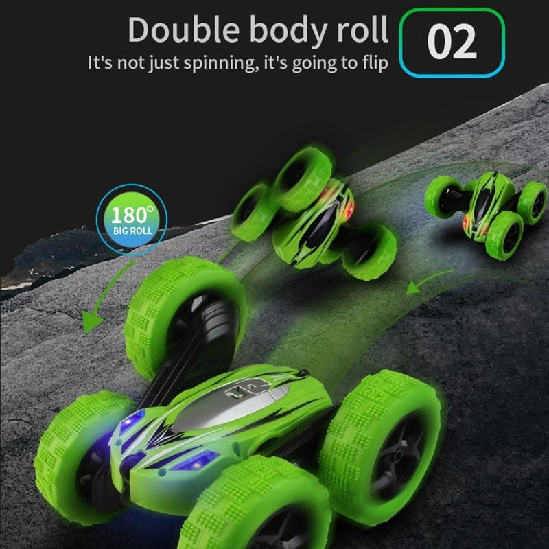 Durable RC Stunt Buggy Green
