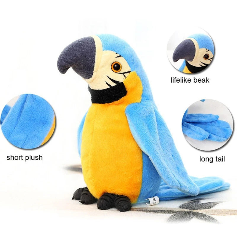 Electronic Talking Parrot Plush Toy